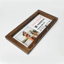 Avior Exclusive-XL Farmhouse Framed Spotify Sign Premium Edition Customized Spotify Song Plaque - Spotify Glass with Custom Photo or Album Cover