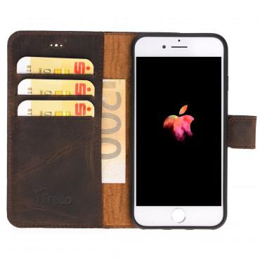"Fredo iPhone 7/8 Plus Leather Case ""Secret Wallet"" (Vintage Brown)"