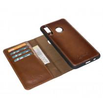 "Fredo Huawei P30 Leather Case ""Secret Wallet"" (Cognac Brown)"