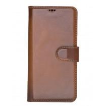 "Fredo Huawei P30 Lite Leather Case ""Secret Wallet"" (Cognac Brown)"