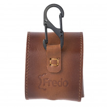 Fredo Airpods Slim Handmade Case Made Of Leather - Compatible With Apple AirPods Cognac Brown