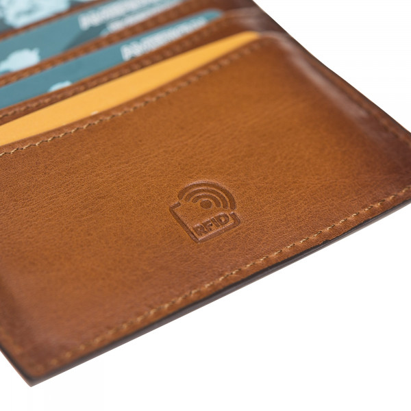 Fredo Urban Card Holder - Cognac Brown