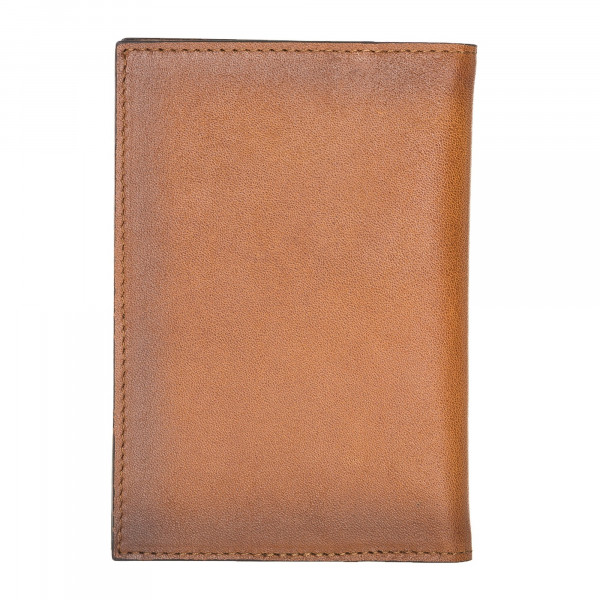 Fredo Passport Wallet - Cognac Brown