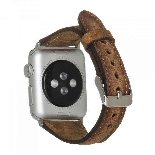 "Fredo Apple Leather Bracelet ""Slim"" (Series 1-6) (Cognac Brown)"