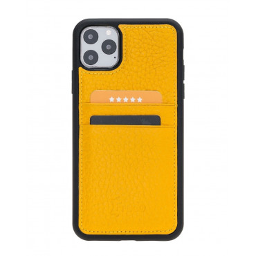 "Fredo iPhone 11 Pro Max 6.5 ""Flex"" Leather Case (yellow)"