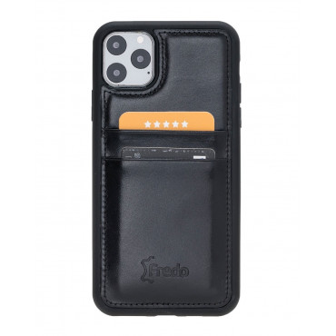 "Fredo iPhone 11 Pro Max 6.5 ""Flex"" Leather Case (Black)"