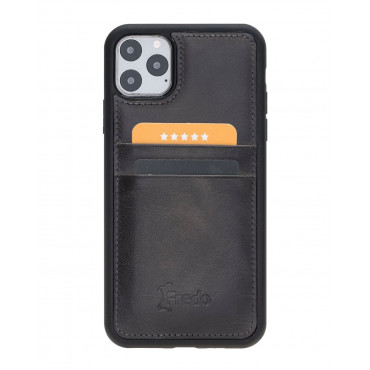 "Fredo iPhone 11 Pro Max 6.5 ""Flex"" Leather Case (Stone Gray)"