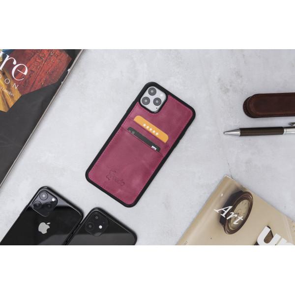 "Fredo iPhone 11 Pro Max 6.5 ""Flex"" Leather Case (Pink)"