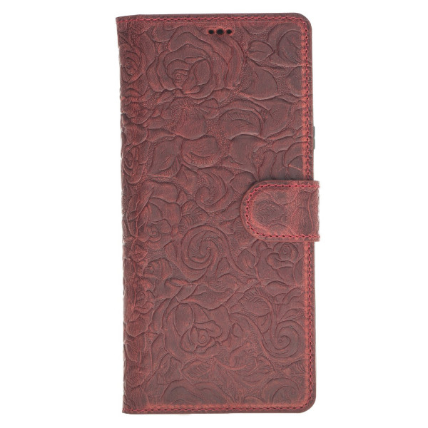 Fredo Galaxy Note 9 Leather Case Red