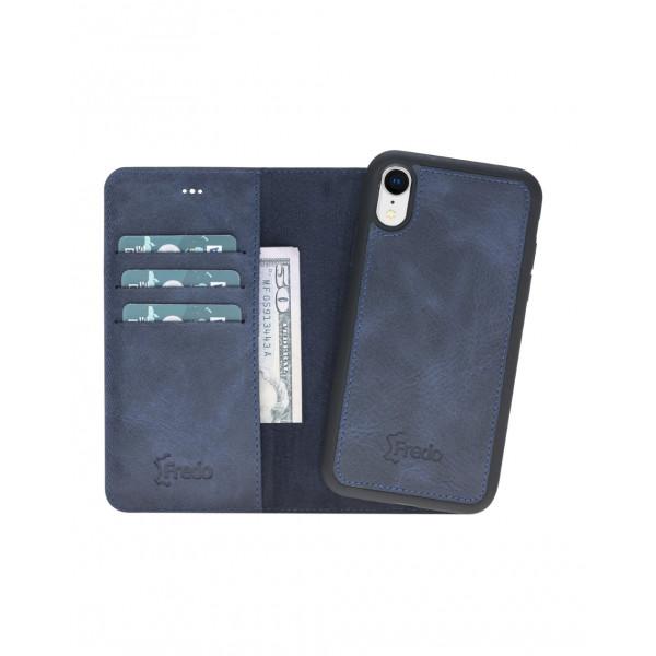 """Fredo iPhone XR leather case """"Secret Wallet"""" (black)"""