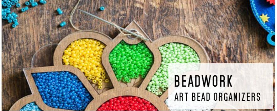 bead organizer wooden