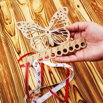 Lonjew Butterfly Shaped Wooden Embroidery Thread Separator LLZ(F)-010