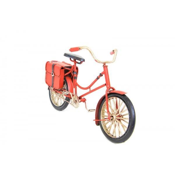 Decorative Metal Bicycle Bag-Red