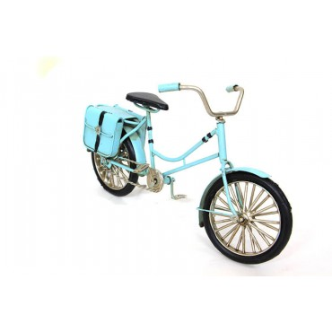 Decorative Metal Bicycle Bag-Blue