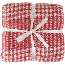 Valuax Bedspread, Bed Throw, Cotton Blanket, Sofa Blanket, Blanket - Very Soft, Breathable and Stylish Plaid Soft Summer Blanket and Winter Blanket with Fringes (Coral)